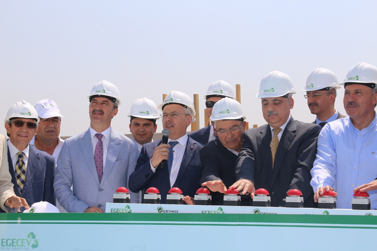 The Foundations of The Glass Recycling Plant EGEÇEV Laid